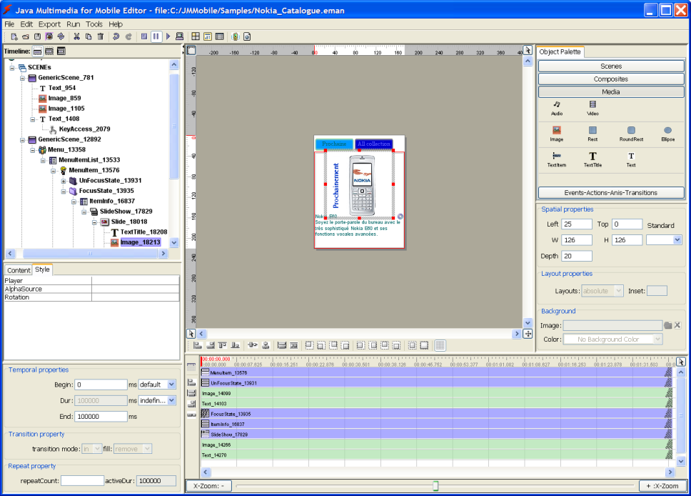 Mobile Multimedia Interactive Content and Application Editor
